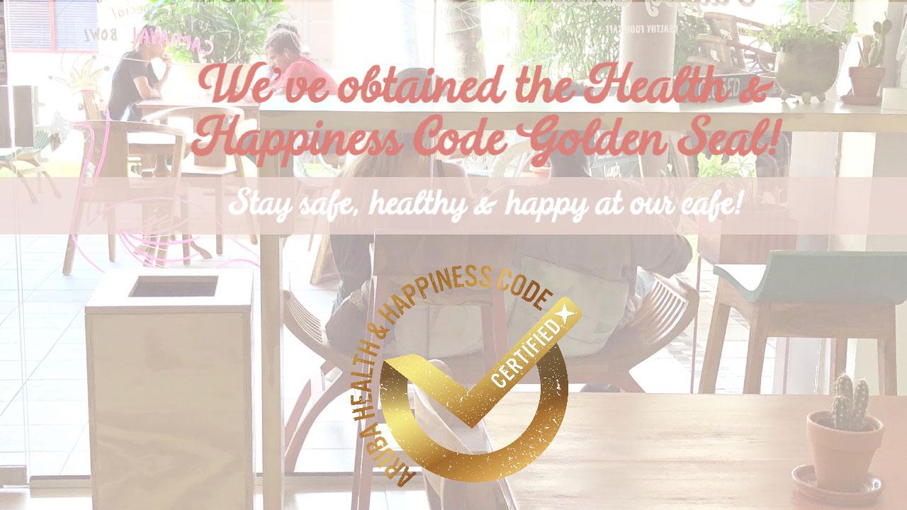Health & Happiness Code Golden Seal status