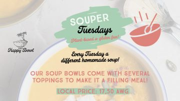 Souper Tuesdays at One Happy Bowl